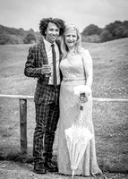 Surrey Wedding Photography - Woldingham Golf Club- happy wedding guests at reception black and white