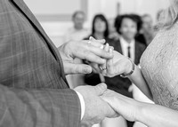 Surrey Wedding Photography - Woldingham Golf Club- bride and groom holding hands black and white
