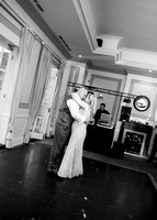 Surrey Wedding Photography - Woldingham Golf Club- first dance black and white