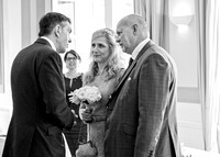 Surrey Wedding Photography - Woldingham Golf Club- end of the ceremony black and white