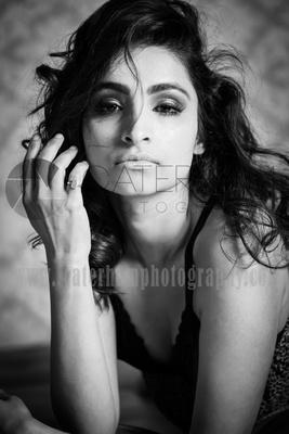 surrey boudoir photographer- in studio- woman looking at camera