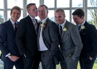 Surrey wedding photographer - wedding in leatherhead register office - Boys Group Photo