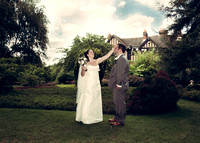 the chateau croydon surrey/ The bride and groom in the gardens - professional wedding photography