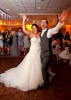 Surrey wedding photographer : bride and groom first dance at Legacy Thatchers Hotel Wedding