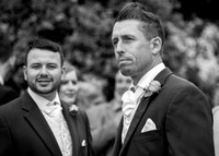 Surrey wedding photographer / Wedding in Caterham / The Grooms best-man / Black and white wedding photography