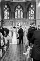 surrey wedding photography- Sacred Heart Church and Halls- the bride and groom at the alley