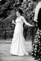 Surrey Wedding Photographer / Wedding in Caterham / The bride holding glass