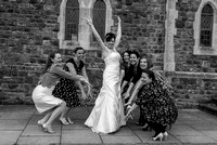 Surrey Wedding Photographer / Wedding in Caterham /  Bride with her friends / Wedding fun photos/ Friends at weddings