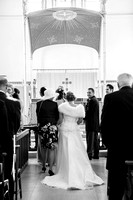 Surrey wedding photographer / St Johns Church Coulsdon Wedding / The bride arriving to the altar