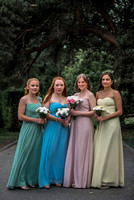 Surrey wedding photographer- colourful bridesmaids