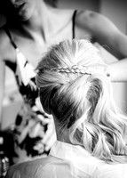 surrey wedding photographer- Bridal Preparation- brides hair