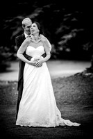 East Grinstead Wedding Photographers / yew lodge weddings / Bride and groom fun photos / Wedding couple hug