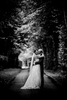 East Grinstead Wedding Photographers / Yew Lodge wedding / Wedding couple in the tree garden