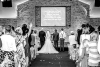 Surrey wedding photographer / reigate baptist church / Singing in the church