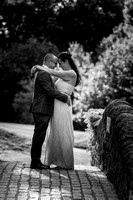 surrey wedding photographer- leatherhead registry office- bride and groom kissing