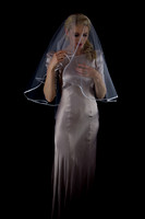 model for bridal shoot in veil