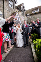 surrey wedding photographer- Crowhurst Park Wedding East Sussex- bride and groom in the church