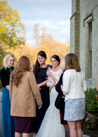 Surrey wedding photographer- Chiddingstone Castle- bride and guests