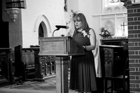 Surrey Wedding Photographer, All Saints Kenley Wedding, Speech at the venue