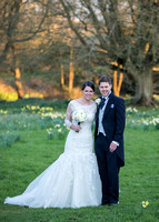 Surrey Wedding Photographer- Chiddingstone Castle- Bride Groom and Flowers