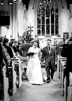 Surrey wedding photographer- St Pauls Church, East Molesey wedding - The happy couple