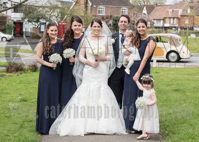 st bartholomew's church wedding otford- bridal party