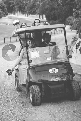 Surrey wedding photographer- Woldingham Golf Club- beautiful golf cart