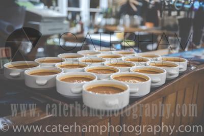 Surrey wedding Photographer- The High Rocks wedding at Tunbridge Wells Kent- outstanding wedding food