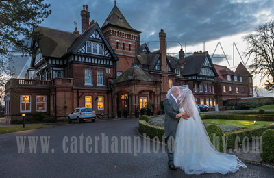 Surrey wedding photographers- Woodland Park Hotel surrey- bride & groom portrait