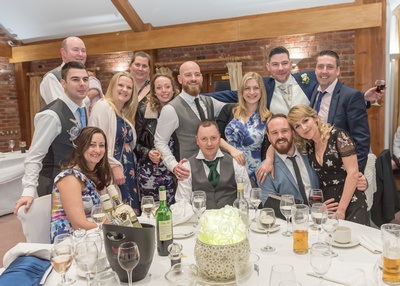 Surrey Wedding Photographer- Wedding ceremony at westerham golf club- Wedding Guests having an exciting time at the wedding