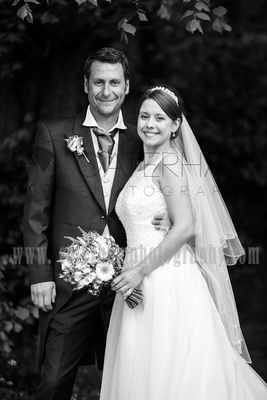 Surrey wedding photographer- Photographed Wedding at St Mary's Church in Dorking- Stunning bride & groom portrait