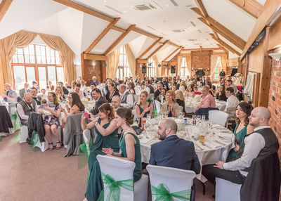 Surrey Wedding Photographer- Wedding ceremony at westerham golf club- Wedding reception party