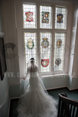 Surrey wedding photographer- Chiddingstone Castle- Bride on way to ceremony