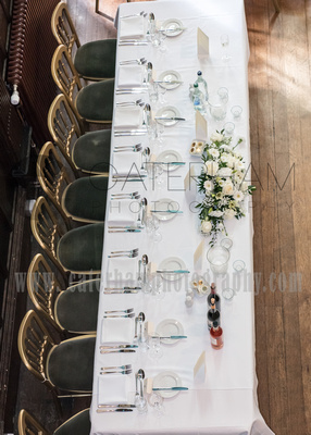 Surrey Wedding Photographer- Wedding ceremony Chiddingston Castle- Wedding table set out