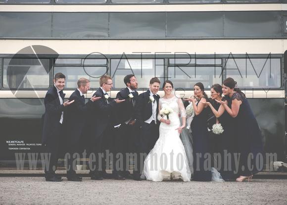 Surrey wedding photographer- Chiddingstone Castle- bride groom and best men