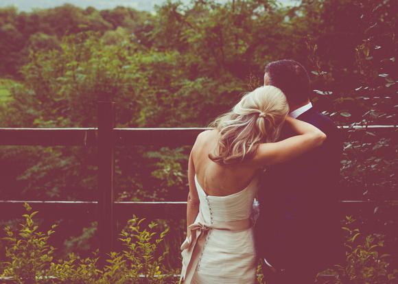Surrey Wedding Photographer- Nutfield Priory-  Bride and Groom outside venue