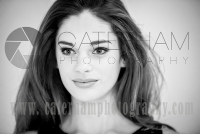 Surrey portrait photographer - beautiful makeup photo black and white