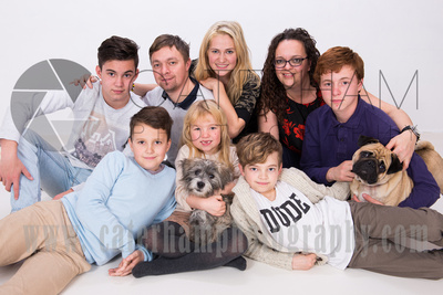 Family Portrait Photographer-  Surrey photographer - Great family portrait and cute dogs