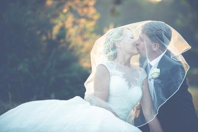 Surrey Wedding Photographer - beautiful, contemporary wedding photographs - Bride & Groom portrait - wedding reception at Croham Hurst