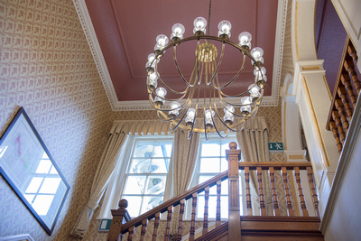 surrey wedding photographer ./ Wedding venue Nearby Reigate / A chandelier