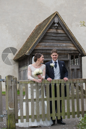 st bartholomew's church wedding otford-Wedding ceremony - bride & groom