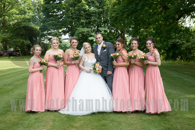 Surrey Wedding Photographer-  Reigate manor hotel- sweet jars on wedding table