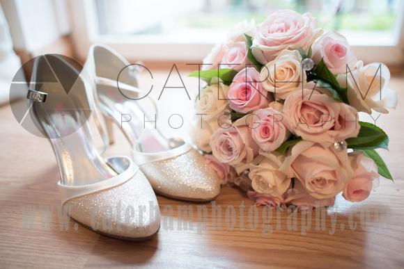 Surrey wedding Photographer- Farleigh Golf Course- stunning Wedding shoes