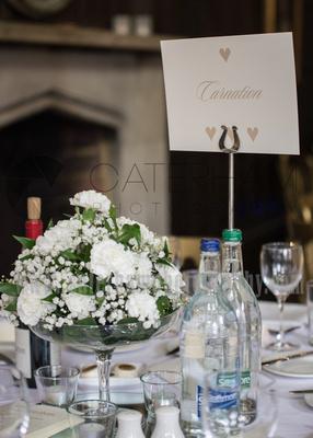 Surrey Wedding Photographer- Chiddingstone Castle- table decoration