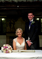 Official wedding registry photo wedding at Mercure Box Hill Burford Bridge Hotel