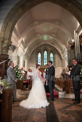 Surrey wedding photographer- Photographed Wedding at St Mary's Church in Dorking- Bride and groom on their special day