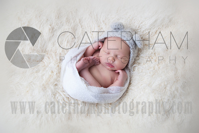 New Born Photographer-  Surrey photographer - beautiful new born baby portrait