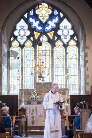 st bartholomew's church wedding otford- the vicar
