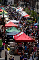 surrey event photographer- caterham food festival- busy market