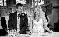 sacred heart church caterham / The bride and groom